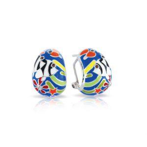 Belle Étoile Angelfish Blue Earrings