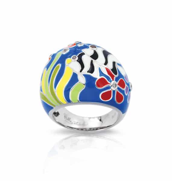 Belle Étoile Angelfish Blue Ring