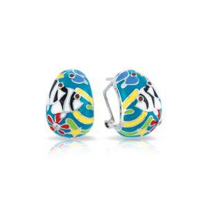 Belle Étoile Angelfish Teal Earrings