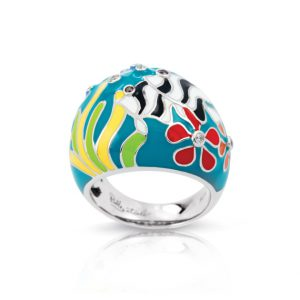 Belle Étoile Angelfish Teal Ring