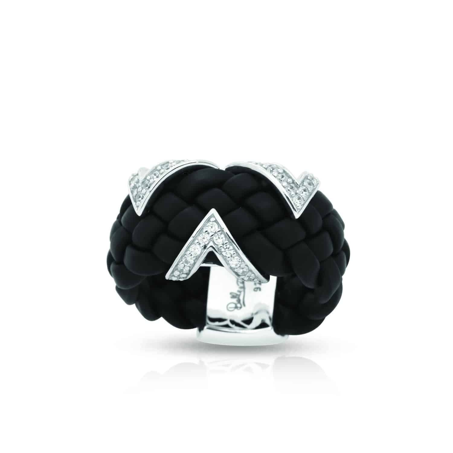 Belle Étoile Arpeggio Black Ring