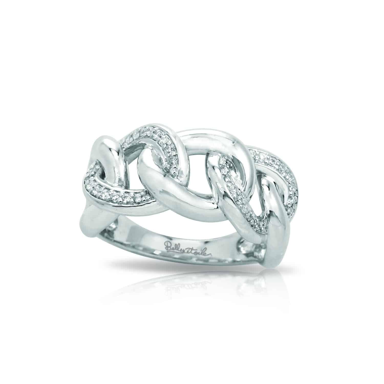 Belle Étoile Bon White Ring