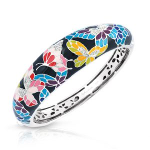 Belle Étoile Butterfly Kisses Black Bangle