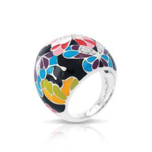 Belle Étoile Butterfly Kisses Black Ring