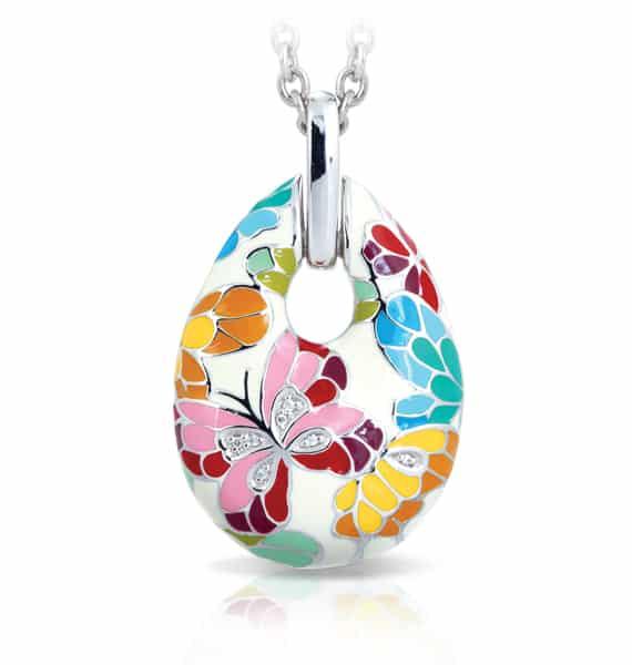 Belle Étoile Butterfly Kisses Ivory Pendant