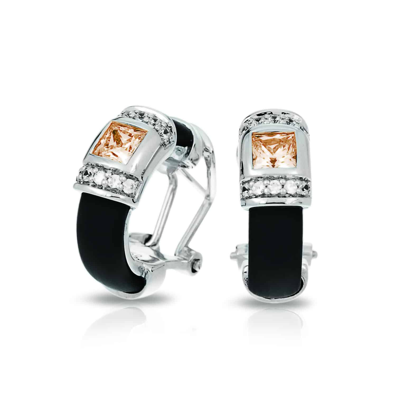 Belle Étoile Celine Black and Champagne Earrings
