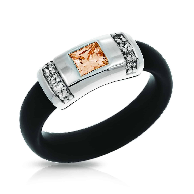 Belle Étoile Celine Black and Champagne Ring