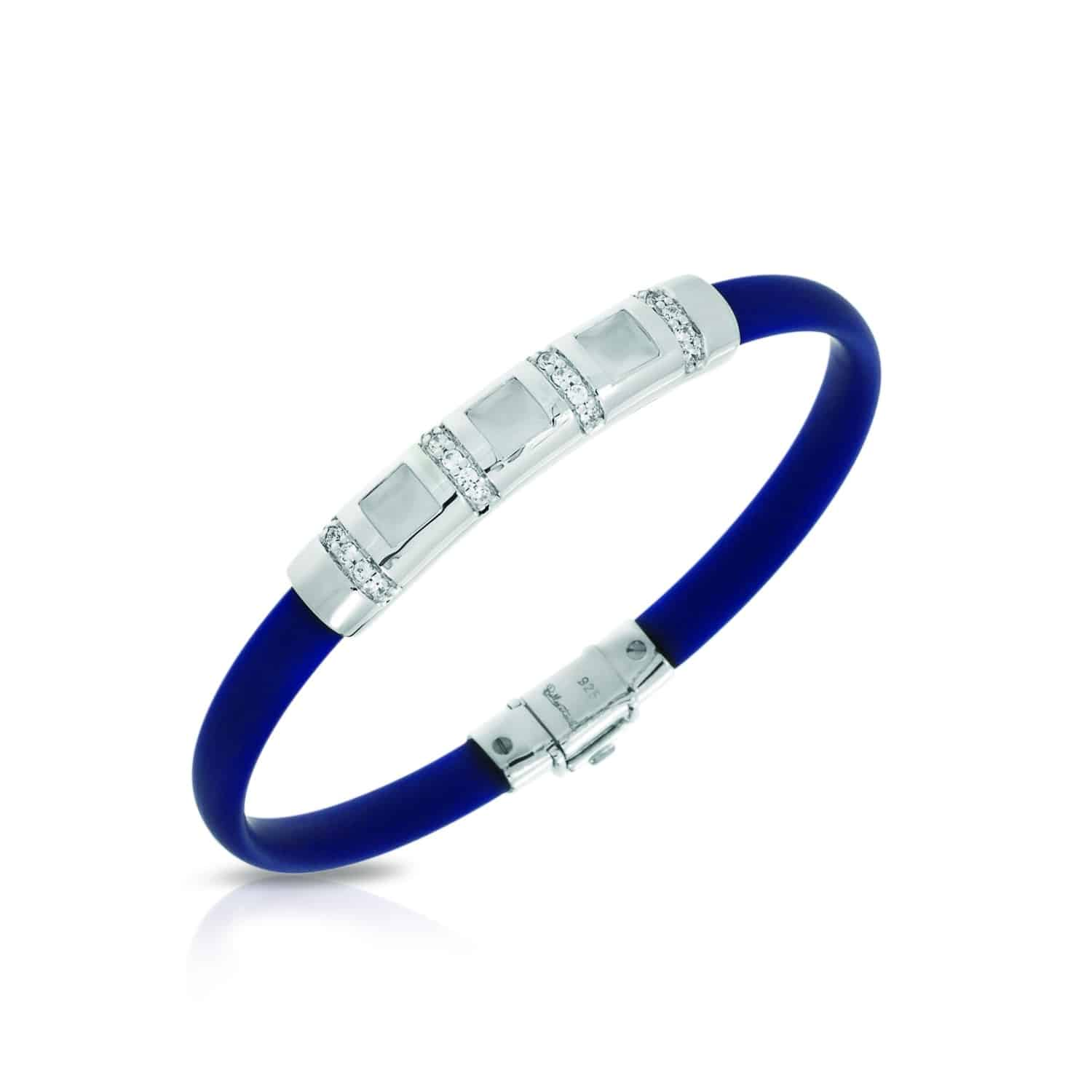 Belle Étoile Celine Blue and Milkstone Bracelet