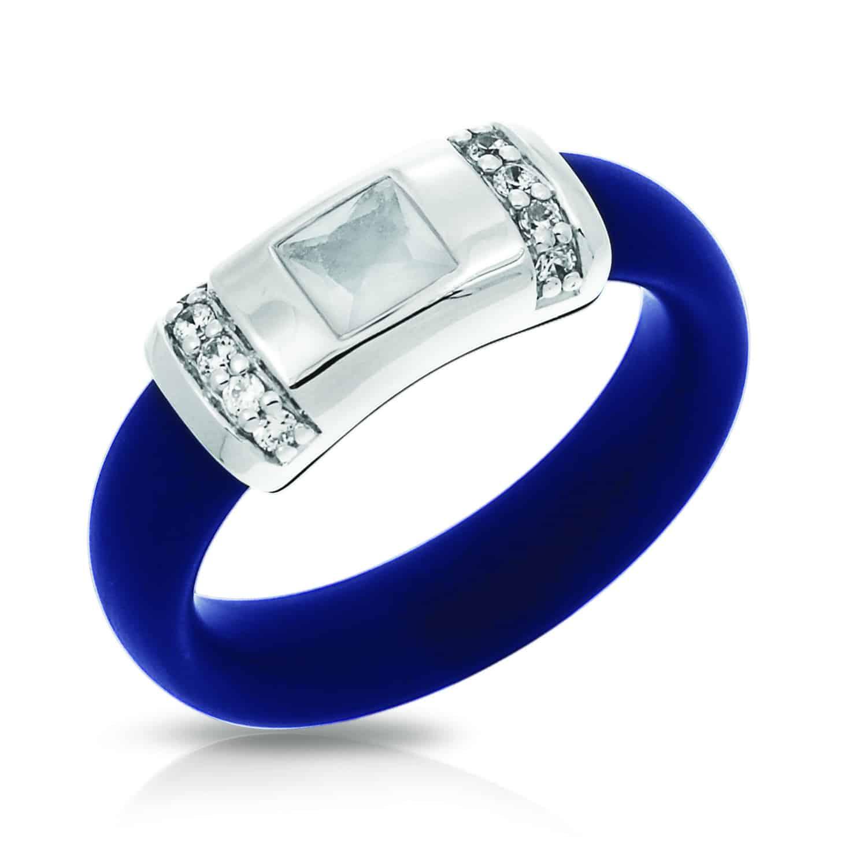 Belle Étoile Celine Blue and Milkstone Ring