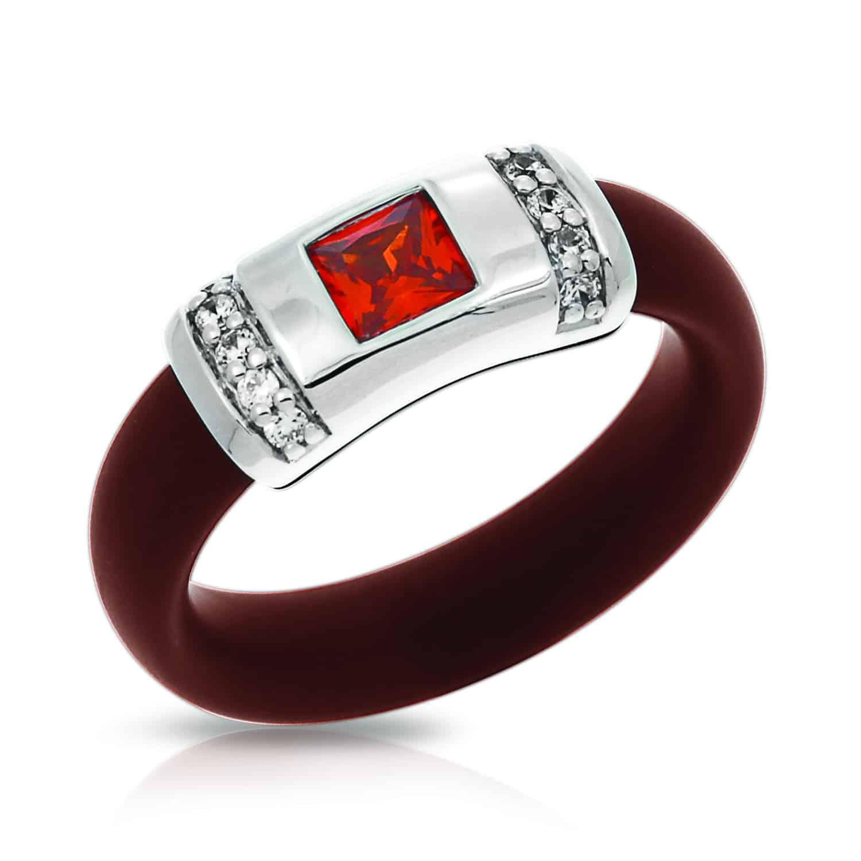 Belle Étoile Celine Brown and Orange Ring