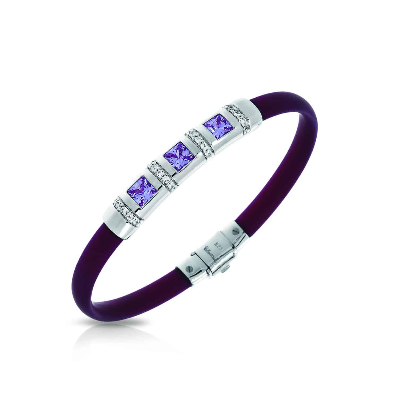 Belle Étoile Celine Plum and Amethyst Bracelet