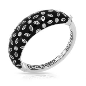 Belle Étoile Charlotte Black Bangle