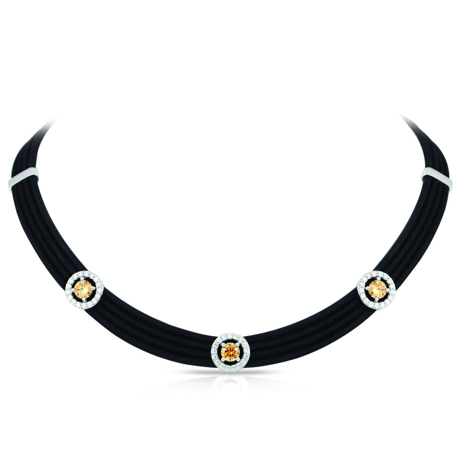 Belle Étoile Circa Black and Champagne Necklace