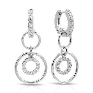 Belle Étoile Concentra White Earrings