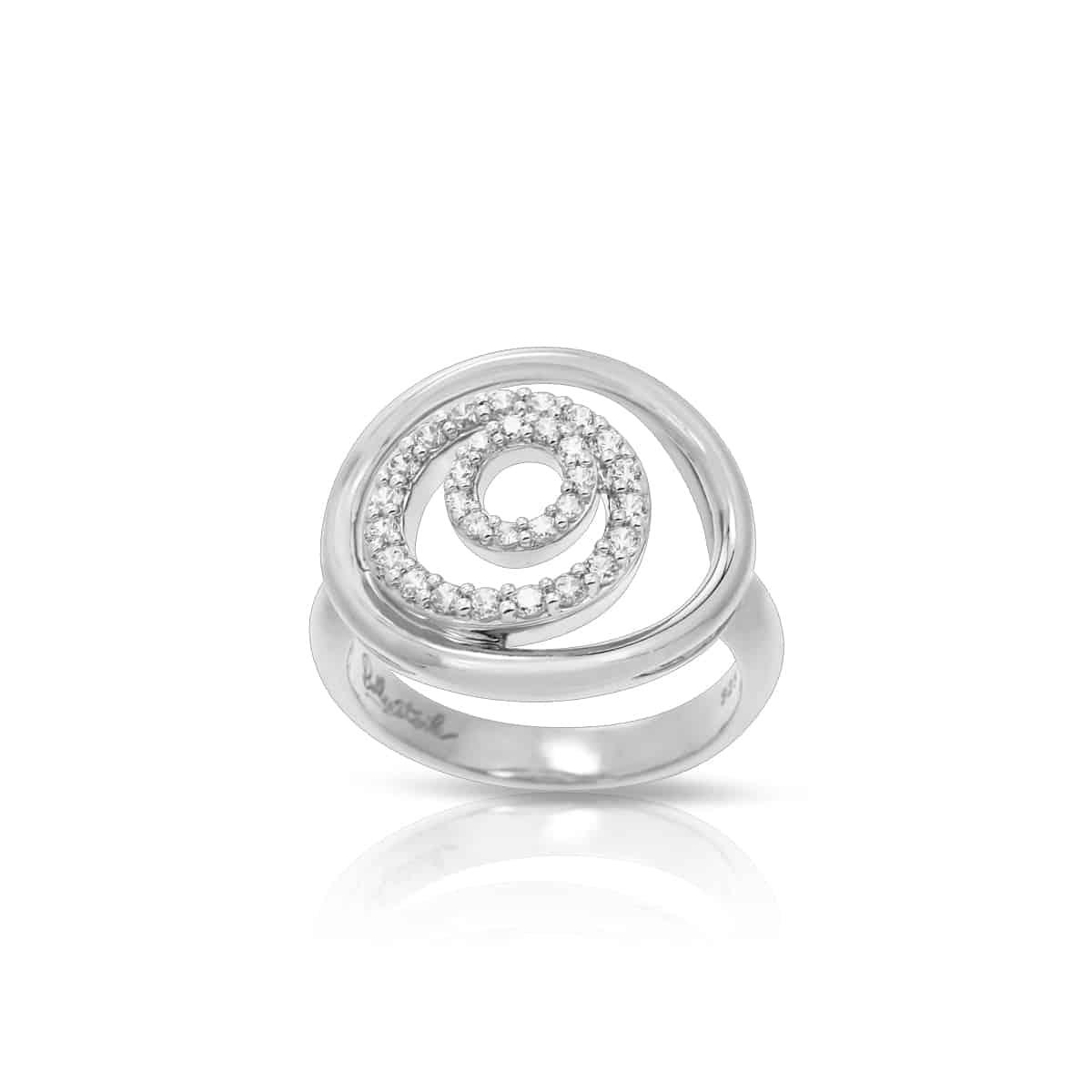 Belle Étoile Concentra White Ring