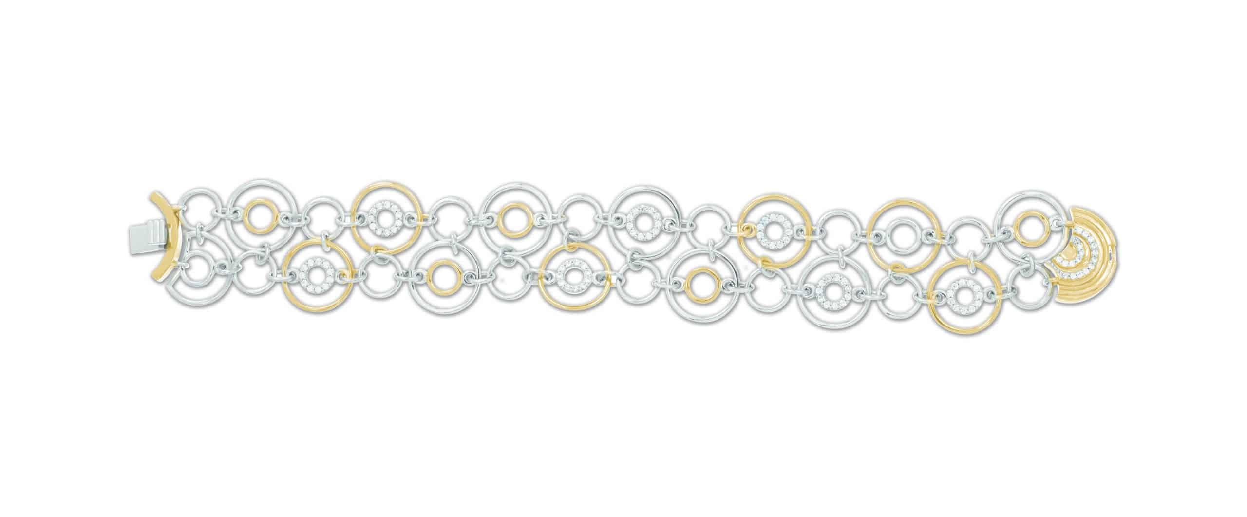 Belle Étoile Concentra White and Yellow Bracelet