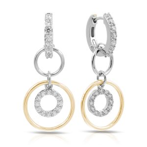 Belle Étoile Concentra White and Yellow Earrings