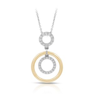 Belle Étoile Concentra White and Yellow Pendant