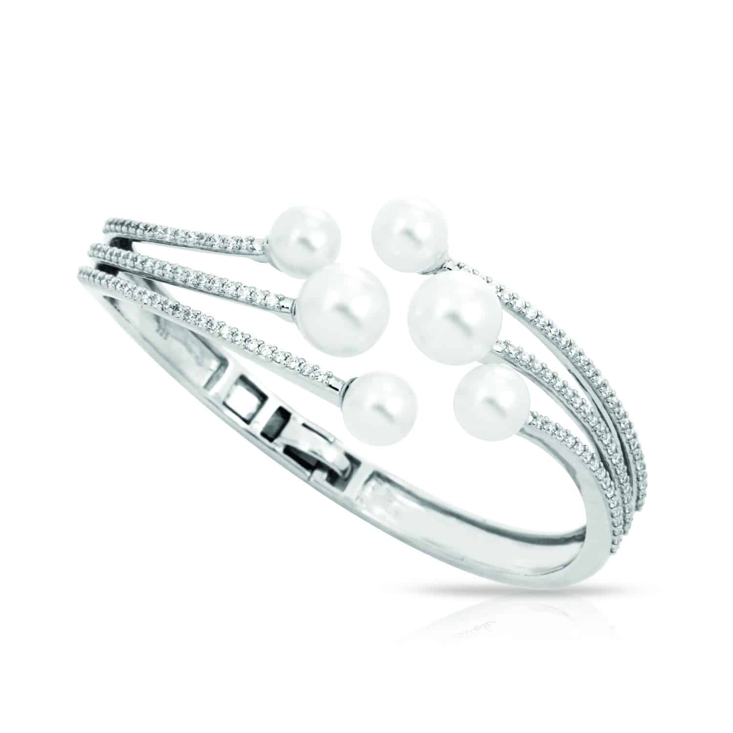 Belle Étoile Effervescence White Bangle