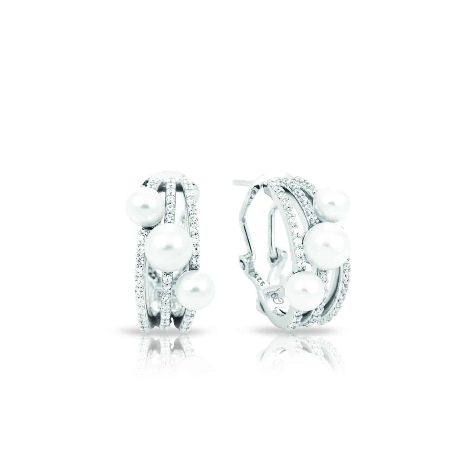 Belle Étoile Effervescence White Earrings