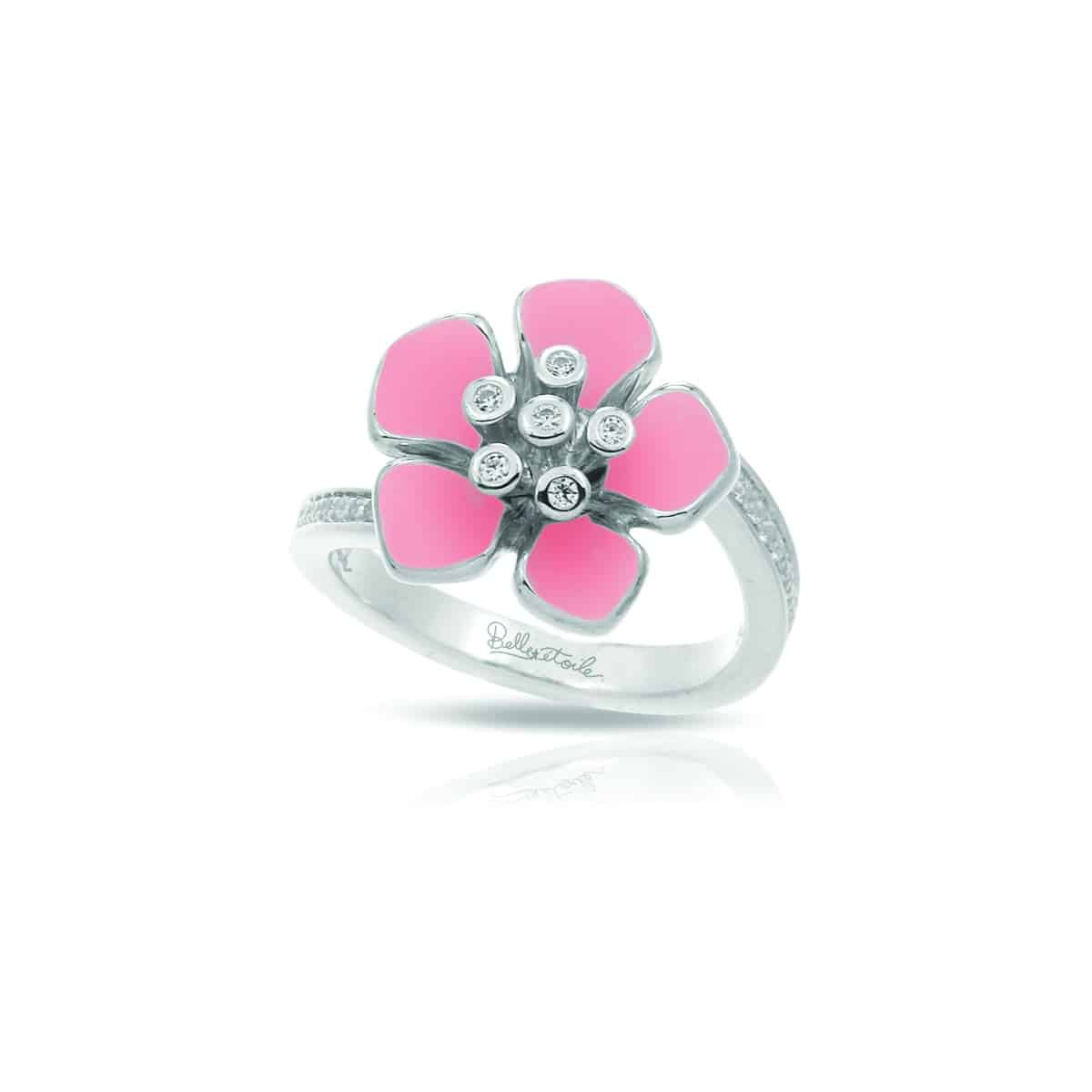 Belle Étoile Forget-Me-Not Pink Ring