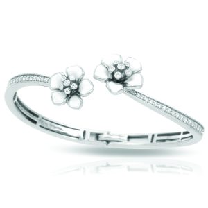 Belle Étoile Forget-Me-Not White Bangle