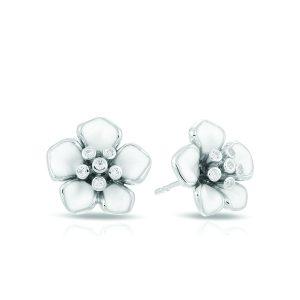 Belle Étoile Forget-Me-Not White Earrings