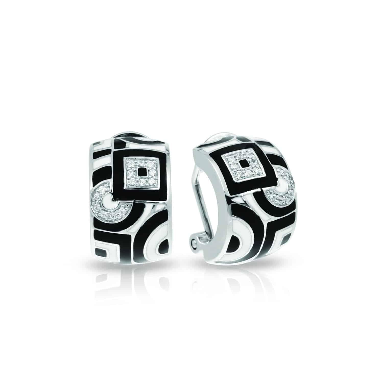 Belle Étoile Geometrica Black and White Earrings