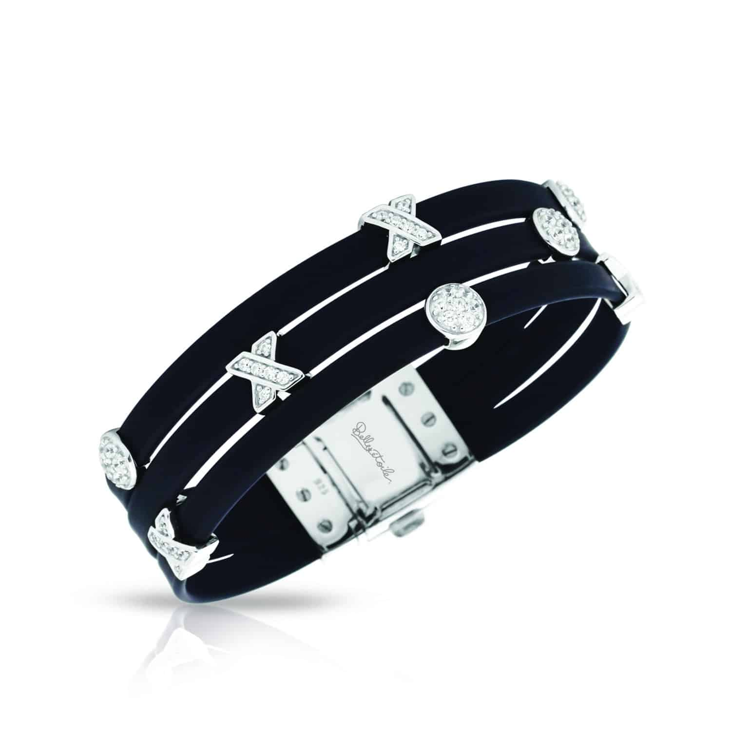 Belle Étoile Hugs and Kisses Black Bracelet