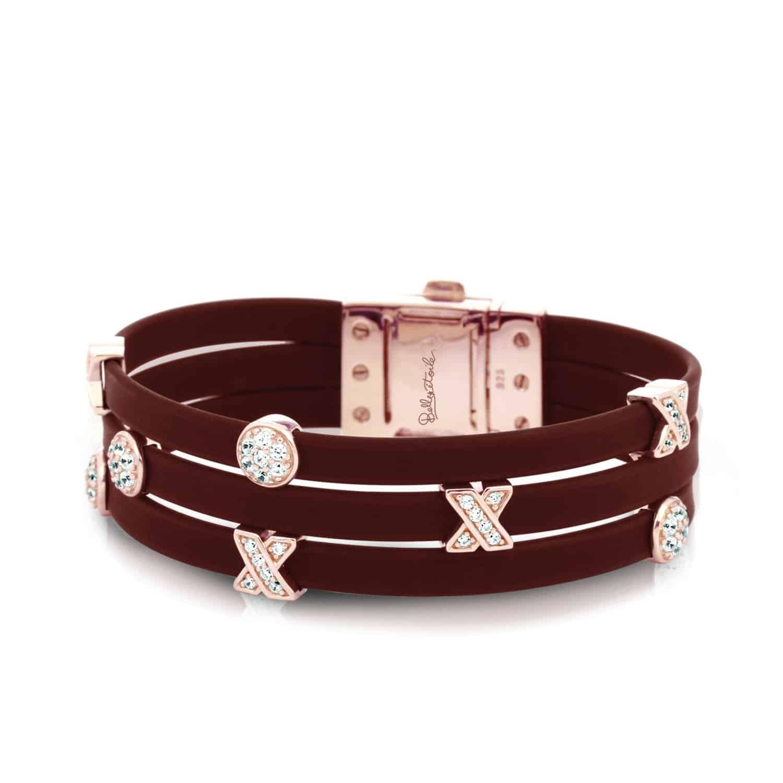 Belle Étoile Hugs and Kisses Brown and Rose Bracelet