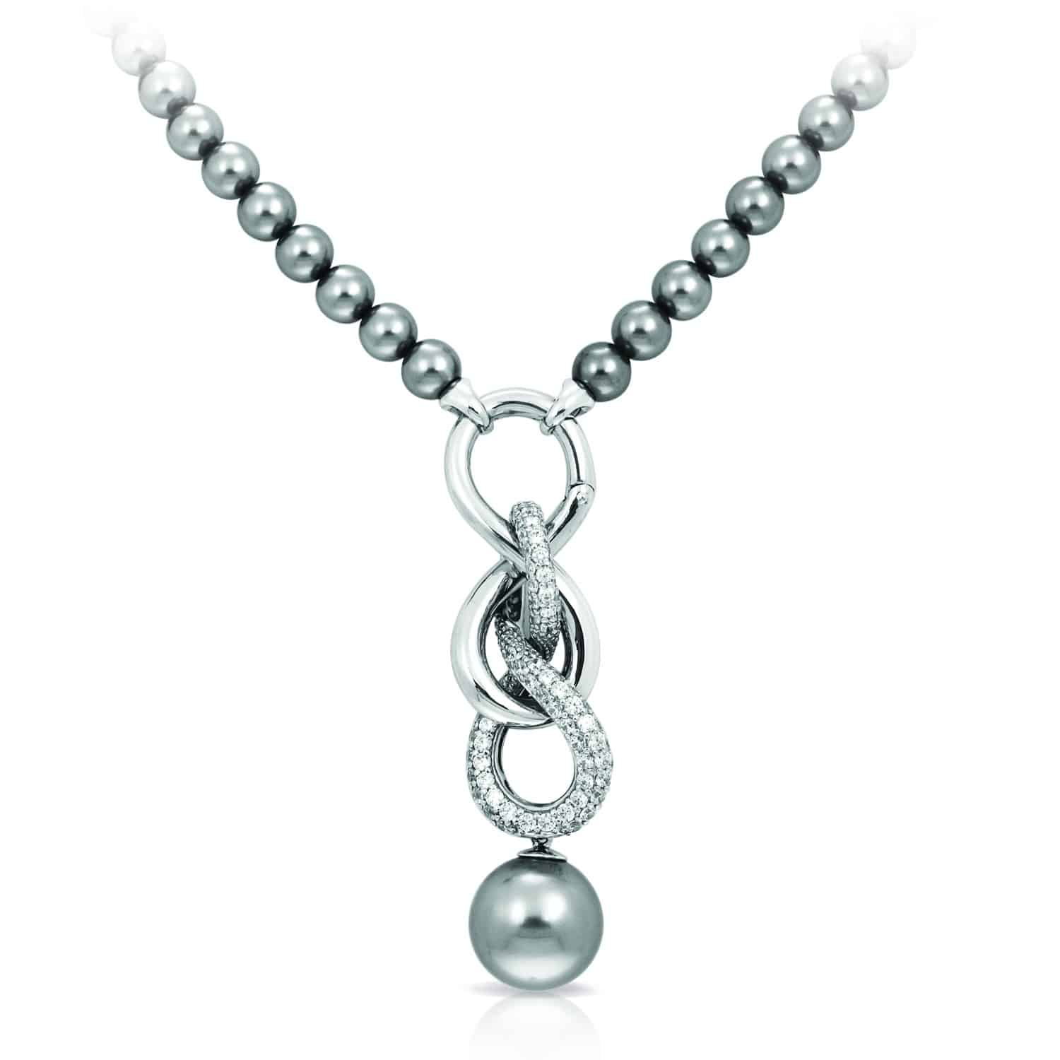 Belle Étoile Infinity Grey Necklace