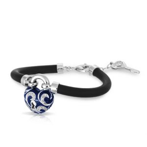 Belle Étoile Key to My Heart Blue Bracelet