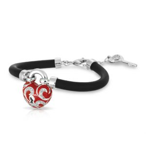 Belle Étoile Key to My Heart Red Bracelet