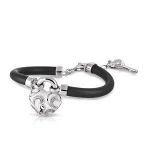 Belle Étoile Key to My Heart White Bracelet