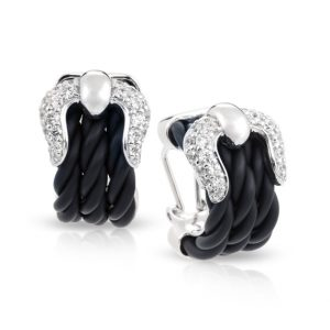 Belle Étoile Lasso Black Earrings