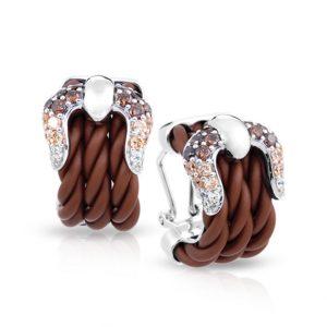 Belle Étoile Lasso Brown Earrings