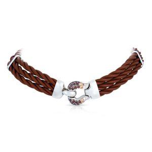 Belle Étoile Lasso Brown Necklace