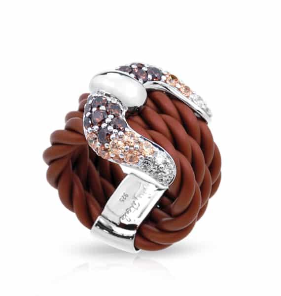 Belle Étoile Lasso Brown Ring