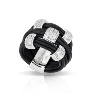 Belle Étoile Legato Black Ring
