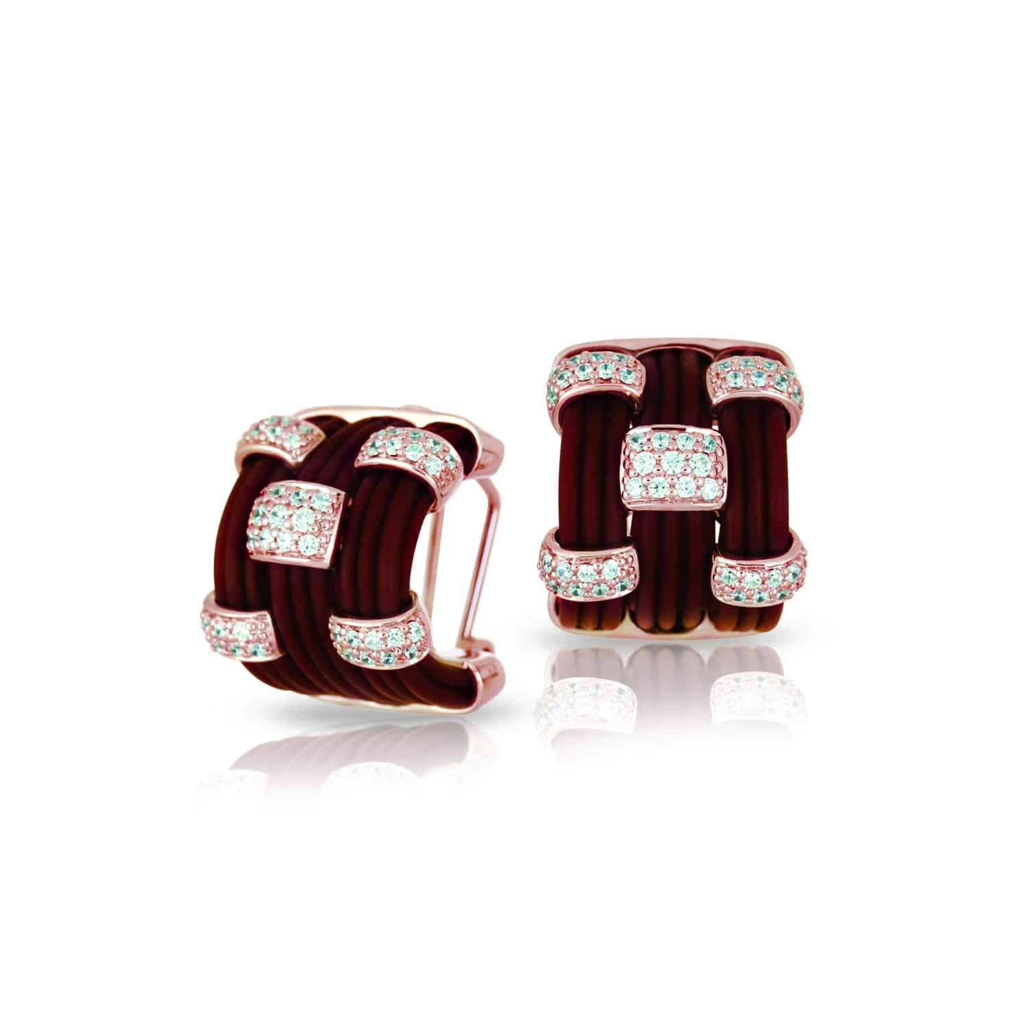 Belle Étoile Legato Brown and Rose Earrings
