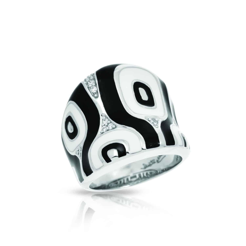 Belle Étoile Moda Black and White Ring