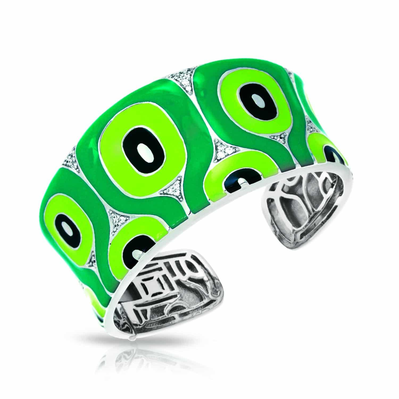 Belle Étoile Moda Green Bangle