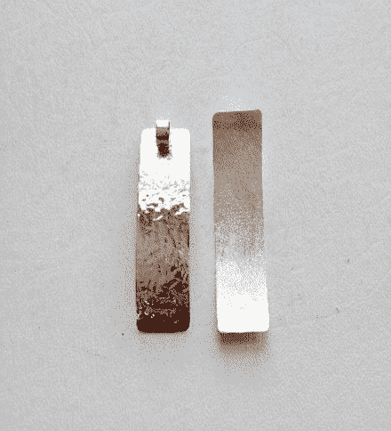 Sterling Silver Rectangular Pendant