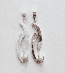 Sterling Silver Fresh Water Pearl Yin-Yang Pendant