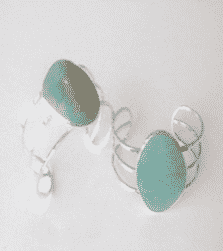 Sterling Silver Turquoise Hammered Wire Cuff