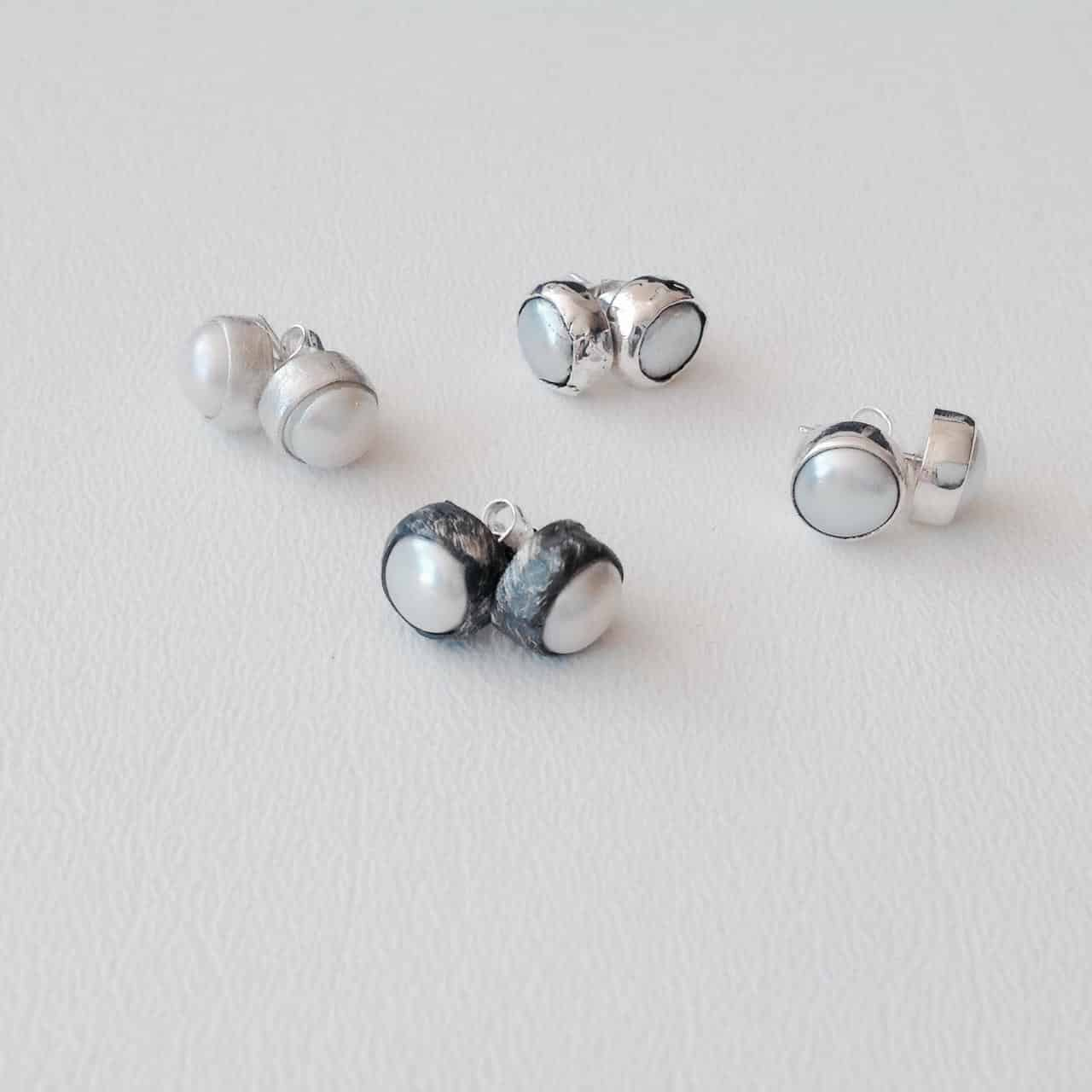 Sterling Silver Fresh Water Pearl Studs