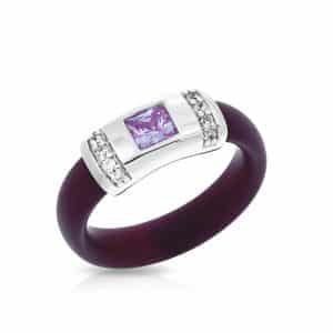Belle Étoile Celine Plum and Amethyst Ring
