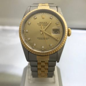 SOLD – Men's Rolex Datejust Factory Diamond Dial