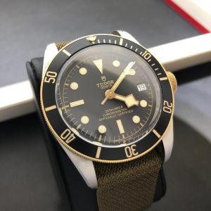 SOLD – Men's Tudor Black Bay Steel & Gold