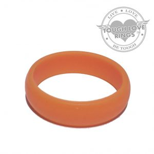 TOUGH LOVE – Solid ORANGE Silicone Ring (Thin band, 5.5mm)